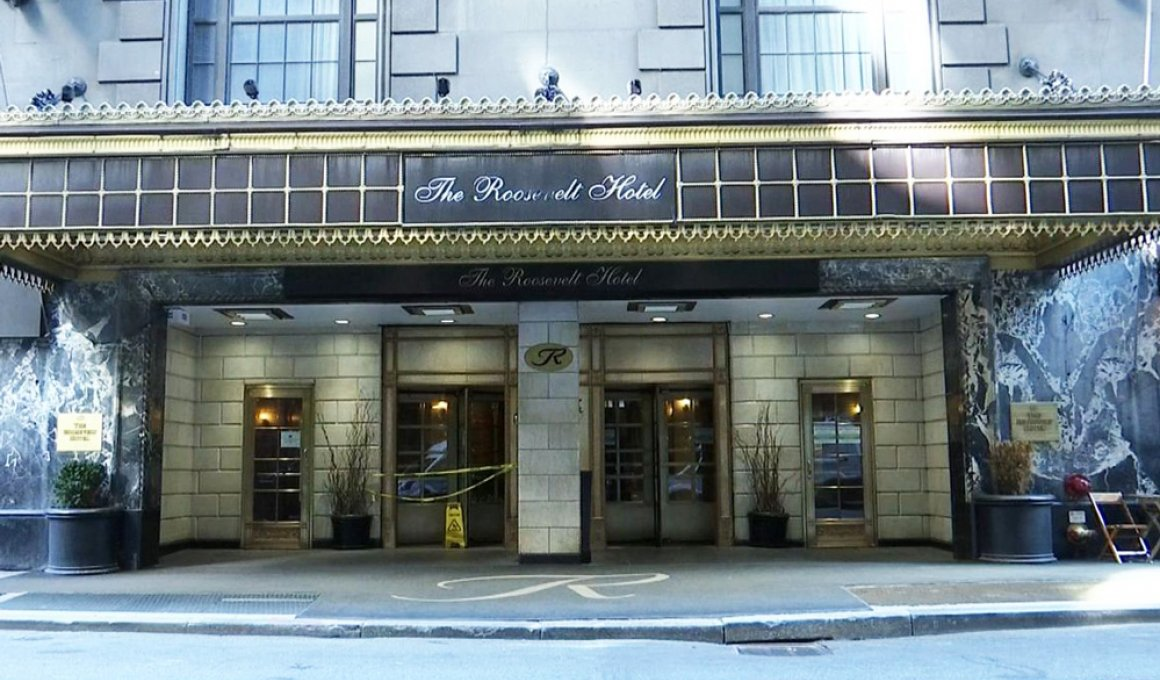 Roosevelt Hotel in New York, On the location of movie