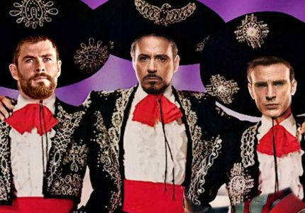 Iron Man, Thor, Captain America = The Three Amigos!