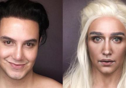 """Ένας άντρας μπορεί να μεταμορφωθεί σε όλες τις πρωταγωνίστριες του """"Game of Thrones""""..."""