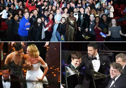 Jimmy Kimmel and Oscars Stars Surprise Moviegoers
