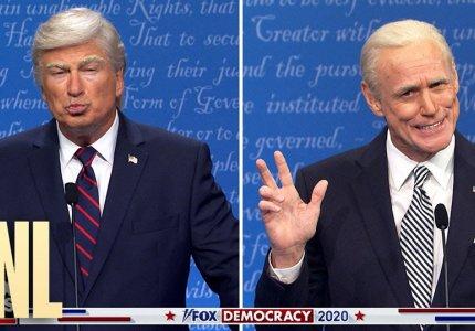 Το προεκλογικό debate των ΗΠΑ με Τζιμ Κάρεϊ-Άλεκ Μπάλντουιν
